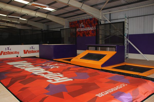 Velocity trampoline park airbag and jump platforms