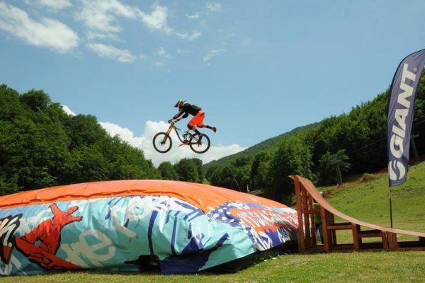 Freestyle mountain bike training