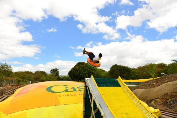 Casela Adventure Park tubby jump with soft landing