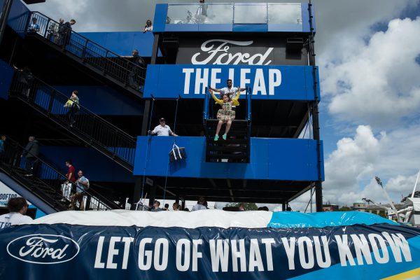 Ford created a unique marketing activation 'Let go of what you know' with freefall into the BigAirBag