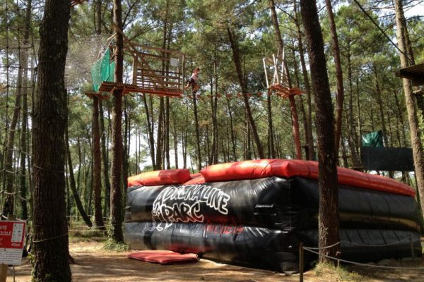 Jump between the trees at High Ropes Adrenaline Park