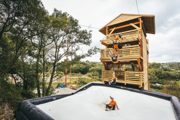 Vertigo Adventure Park with different jump heights