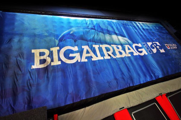 Swim with the fishes in this BigAirBag FOAM PIT