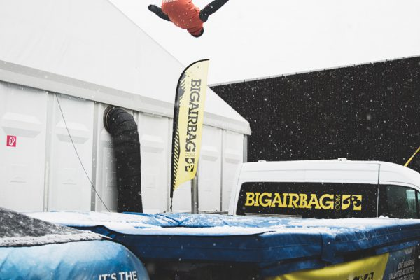 interalpin 2017 big air bag jump trampoline