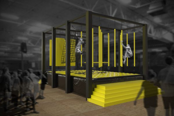 Ninja warrior assault courses are one of the most popular attractions. Add an airbag underneath for a much higher throughput than with a traditional foam pit!