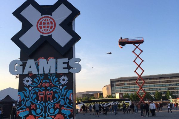 Freefall event during the X-Games