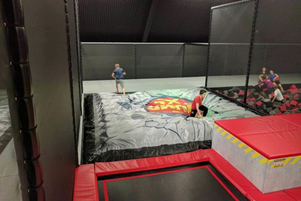 Land soft, then easily walk off. No more struggles to get out of foam pits