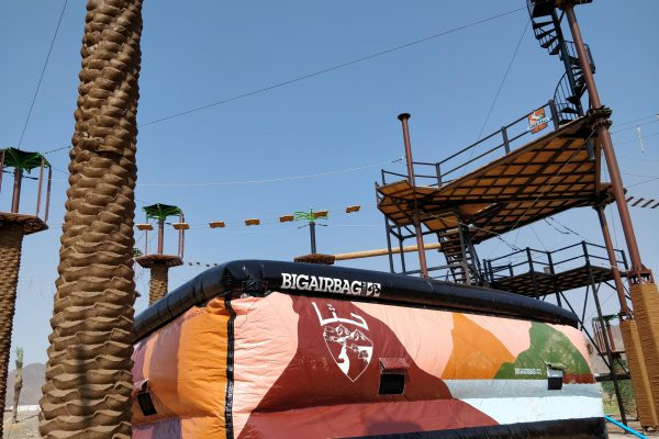 Ropes course with BigAirBag REVOLUTION in Hatta Valley Adventure Park in the UAE