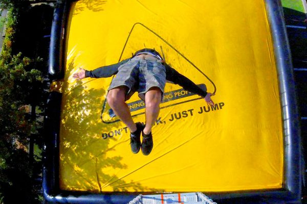 Jump from scary heights and make a safe landing