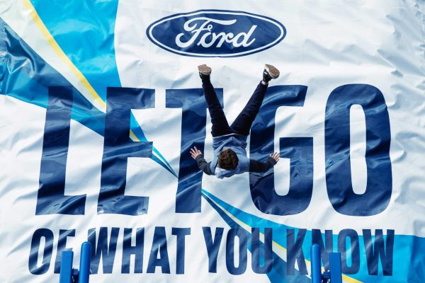 The Ford stand at The Festival of Speed in Goodwood, England