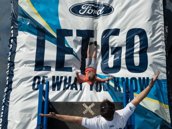 Stunt airbag by Ford