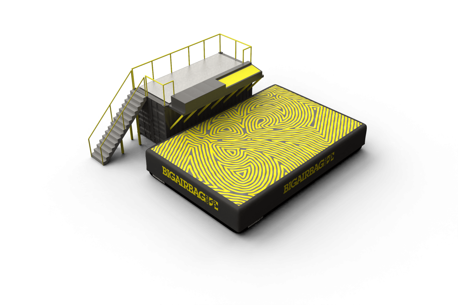 trampoline-station-3dmodel-attraction