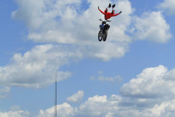 Mike Ouellet flying high